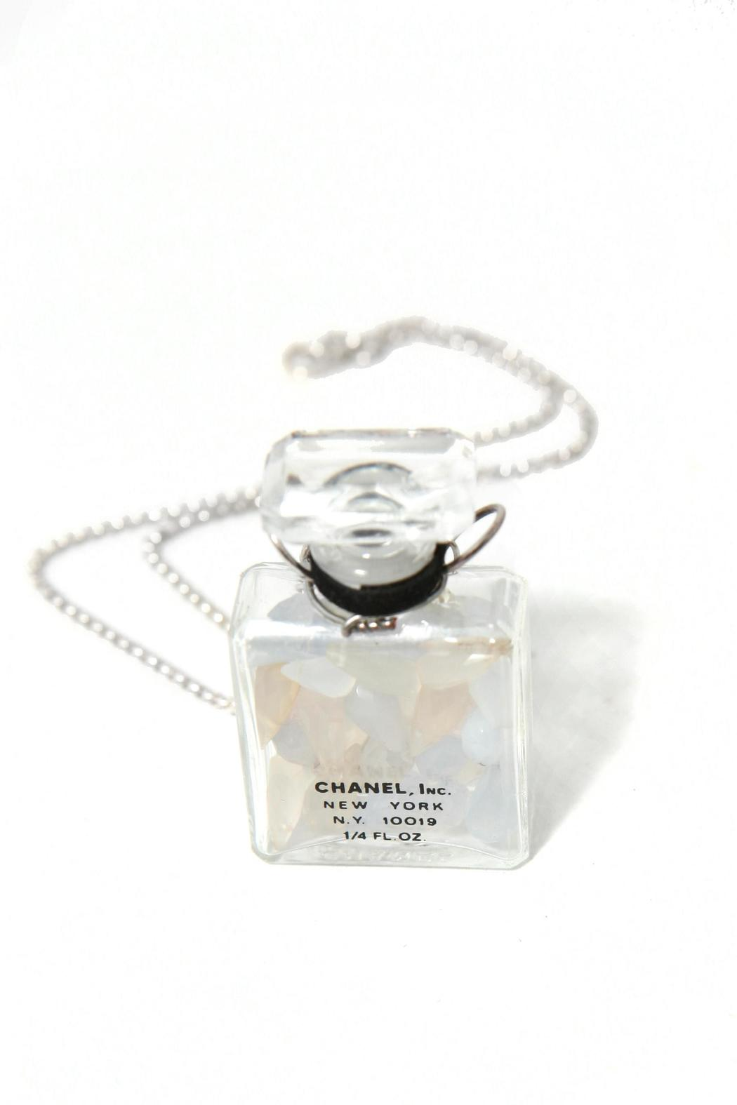 Treehaus Perfume Bottle Necklace - Front Cropped Image