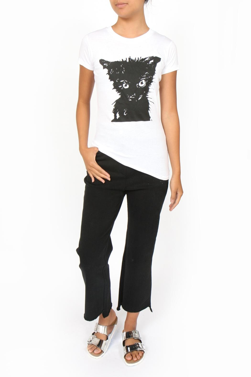 Treehaus Chat Noir Tee - Front Cropped Image