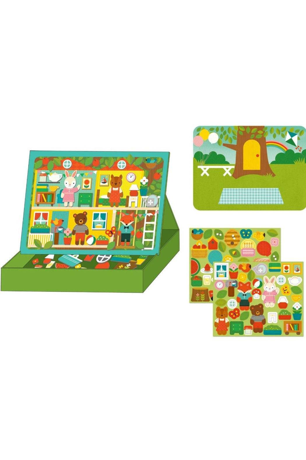 Petit Collage Treehouse Magnetic Playset - Front Full Image