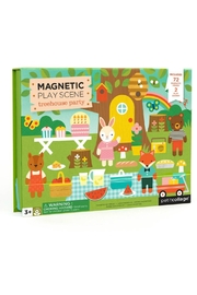 Petit Collage Treehouse Magnetic Playset - Front cropped