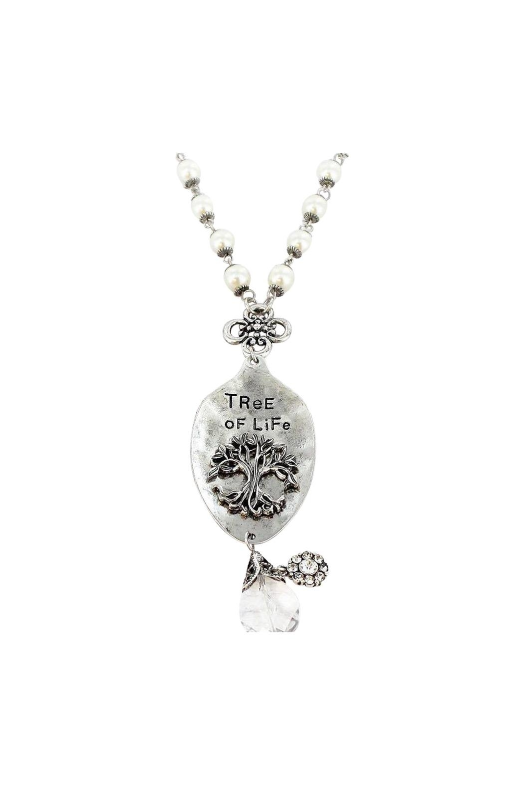 Wholesale Accessory Market Treeoflife Necklace - Front Cropped Image
