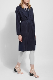 Lyssé Vegan suede and knit trench coat - Product Mini Image