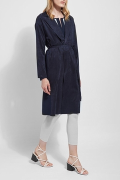 Lyssé Vegan suede and knit trench coat - Product List Image