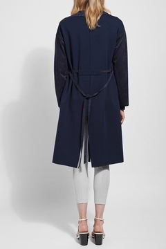Lyssé Vegan suede and knit trench coat - Alternate List Image