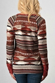 Trend:notes Aztec Waffle Longsleeve - Front full body
