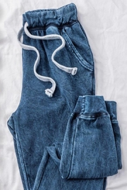 Trend:notes Blue Acid Wash Joggers - Product Mini Image