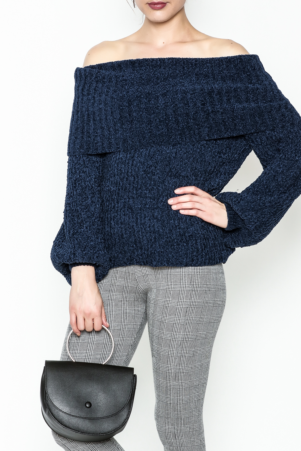 Trend:notes Chenille Crop Sweater - Main Image