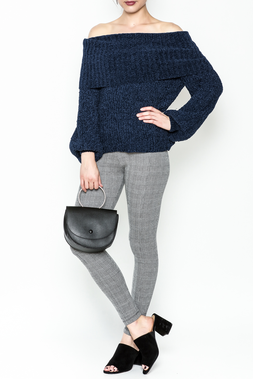 Trend:notes Chenille Crop Sweater - Side Cropped Image