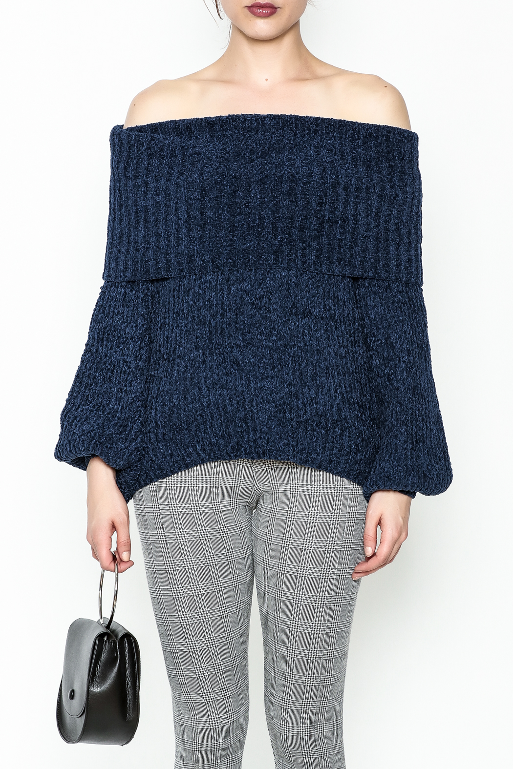 Trend:notes Chenille Crop Sweater - Front Full Image