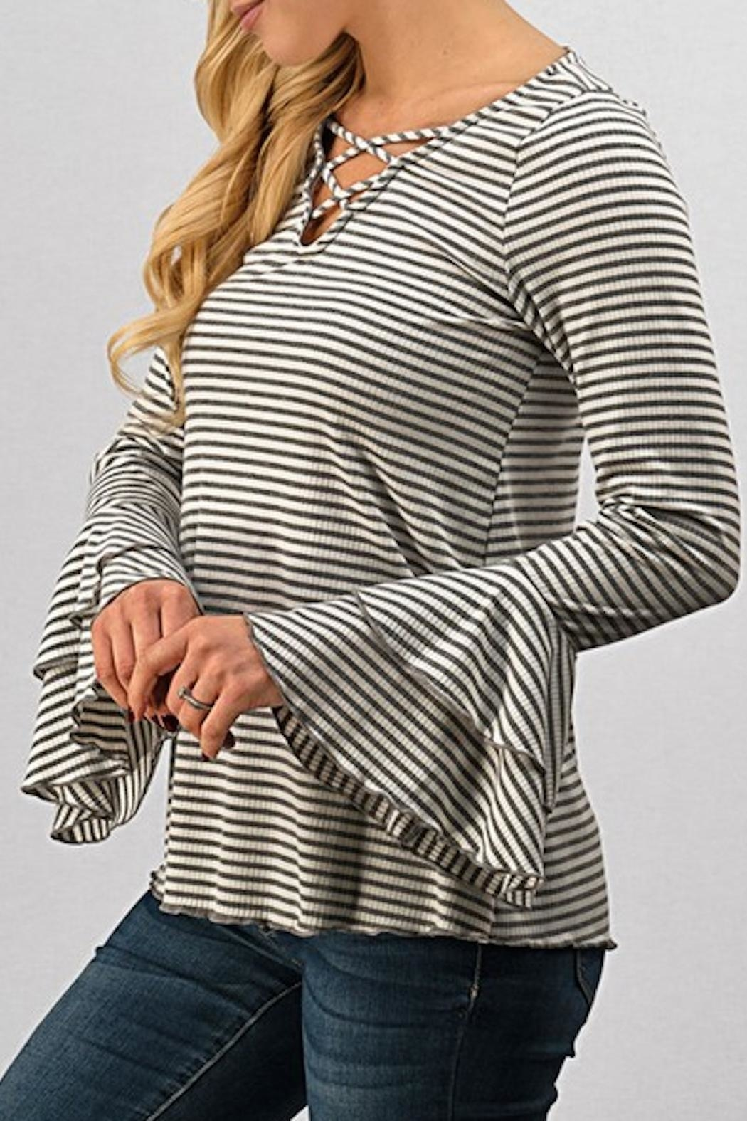 Trend:notes Criss Cross Top - Front Full Image