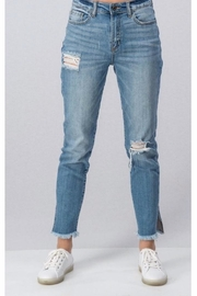 Sneak Peak Cropped Distressed Denim - Front cropped