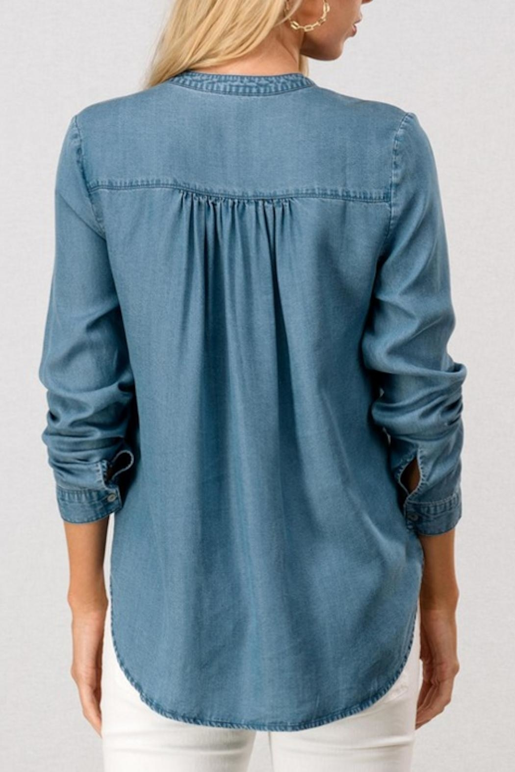 Trend:notes Denim Shirt - Front Full Image