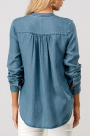 Trend:notes Denim Shirt - Front full body