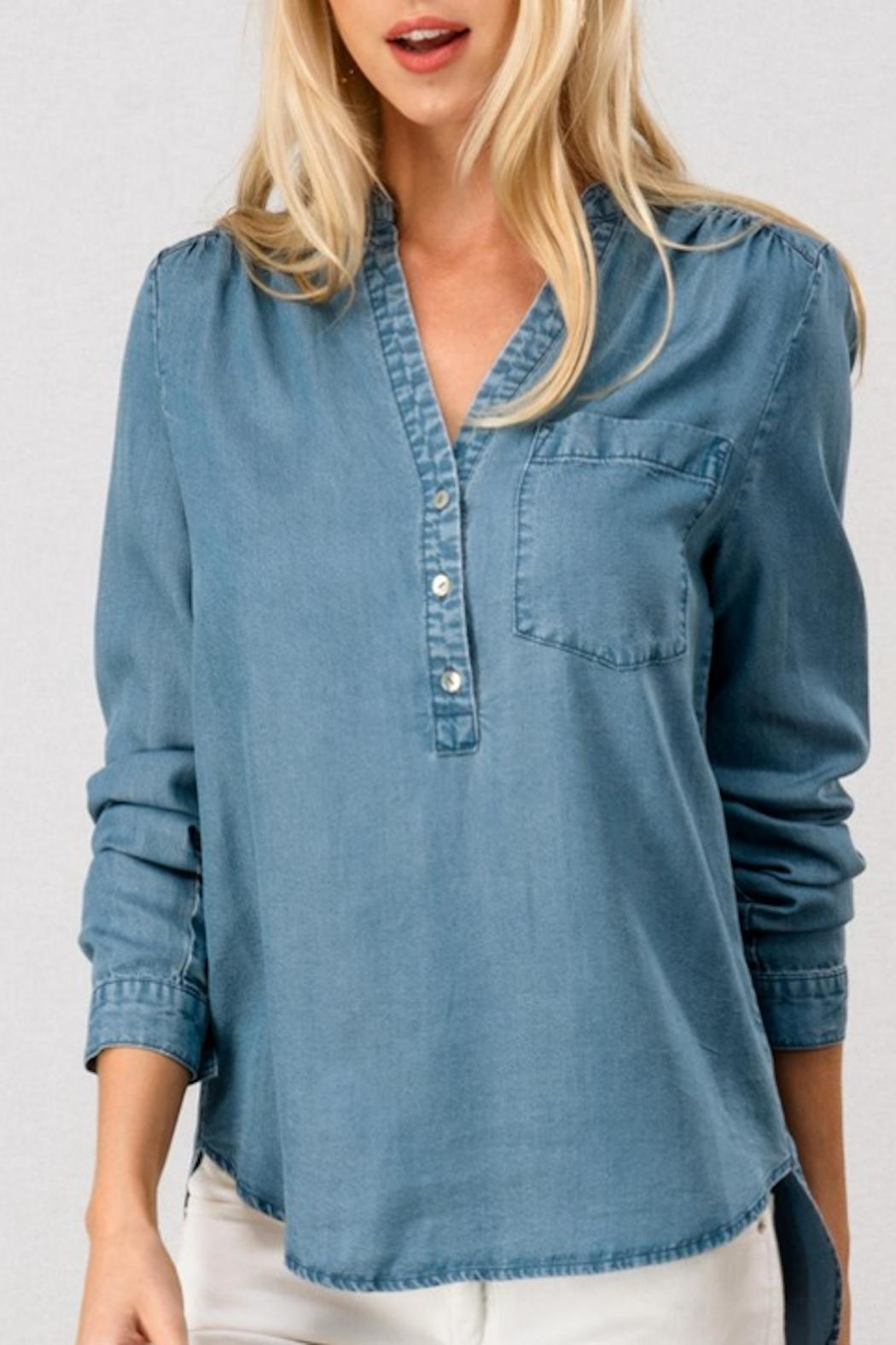 Trend:notes Denim Shirt - Main Image