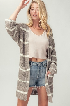 Trend:notes Drop-Shoulder Sweater-Knit Cardigan - Product List Image
