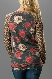 Trend:notes Floral/leopard Print Top - Front full body