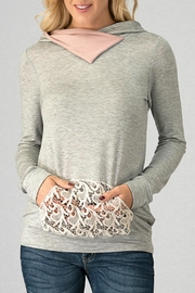 Trend:notes French-Terry Hoodie Top - Front cropped