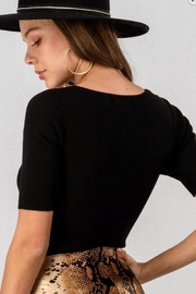 Trend:notes Front Twist Bodysuit - Front full body