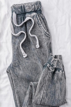 Trend:notes Grey Acid Wash Joggers - Alternate List Image