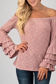Trend:notes Joana Mauve Top - Front cropped