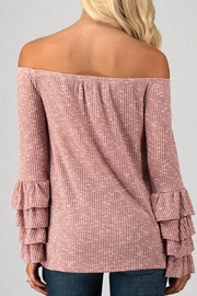 Trend:notes Joana Mauve Top - Side cropped