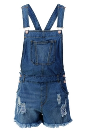 Trend:notes Junior Distressed Overall-Shorts - Product Mini Image
