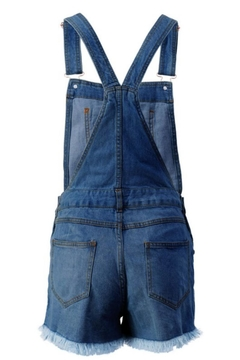 Trend:notes Junior Distressed Overall-Shorts - Alternate List Image