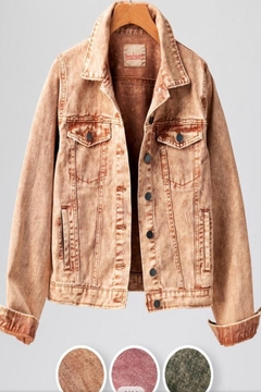 Trend:notes Khaki Denim Jacket - Alternate List Image