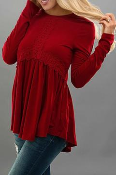 Trend:notes Lace Swing Top - Product List Image