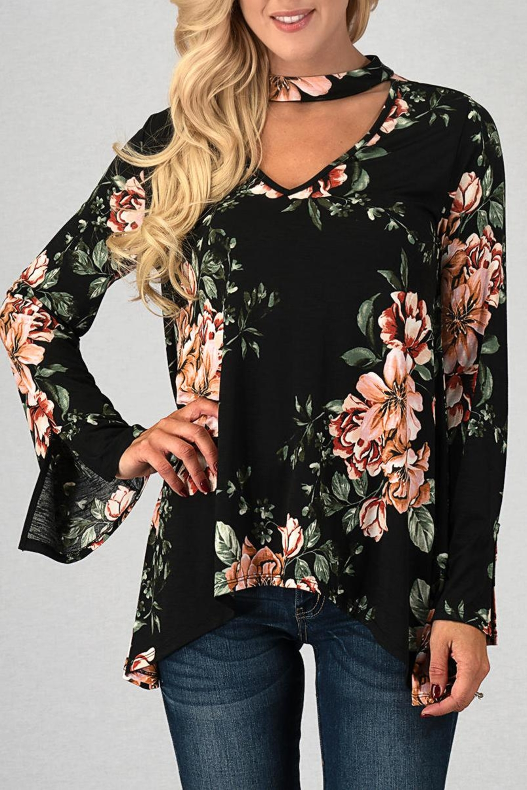 Trend:notes Las Flores Top - Front Full Image