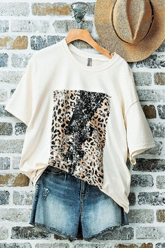 Trend:notes Leopard-Lightning Oversized T-Shirt - Product List Image