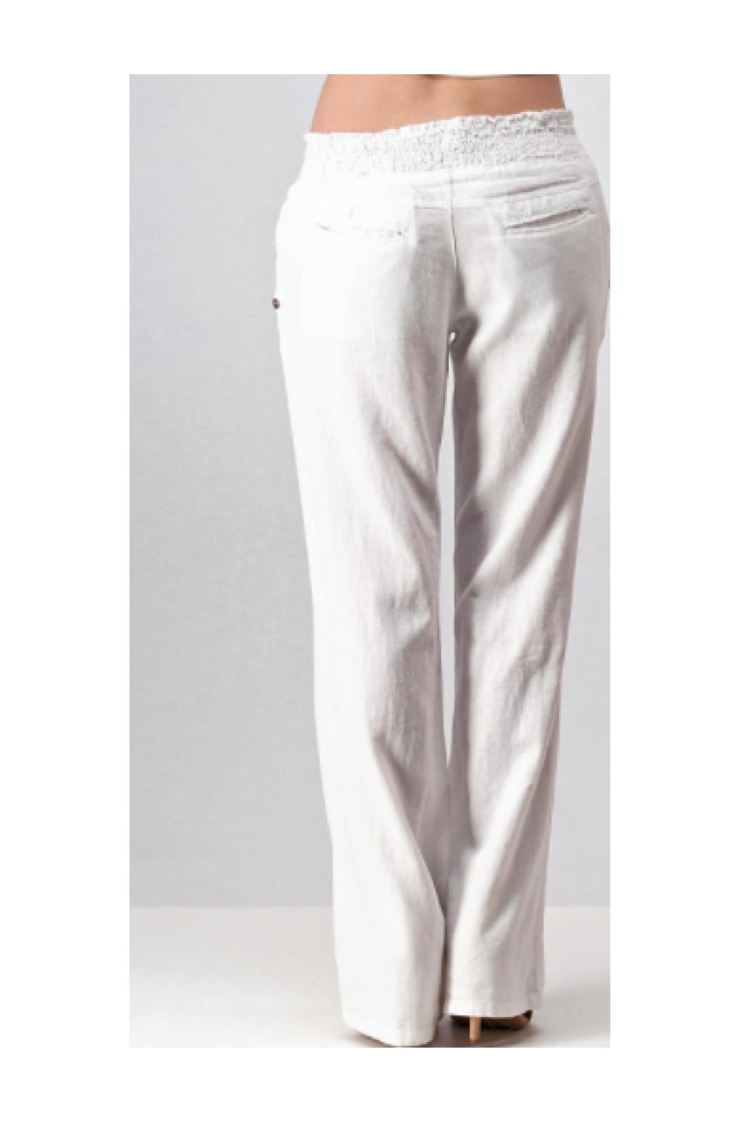 Trend:notes Linen Pants - Front Full Image