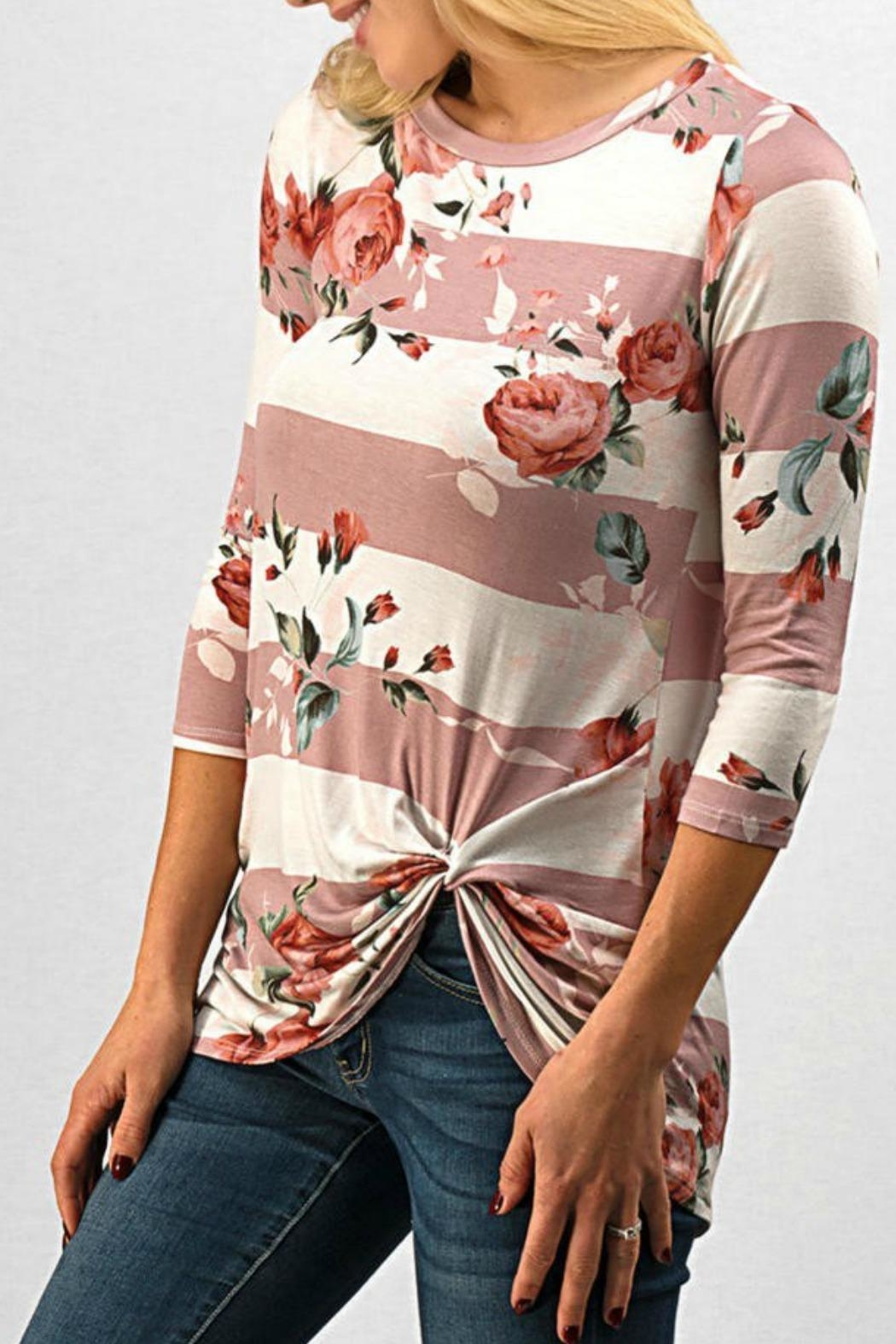 Trend:notes Mary Knot Tee - Front Full Image