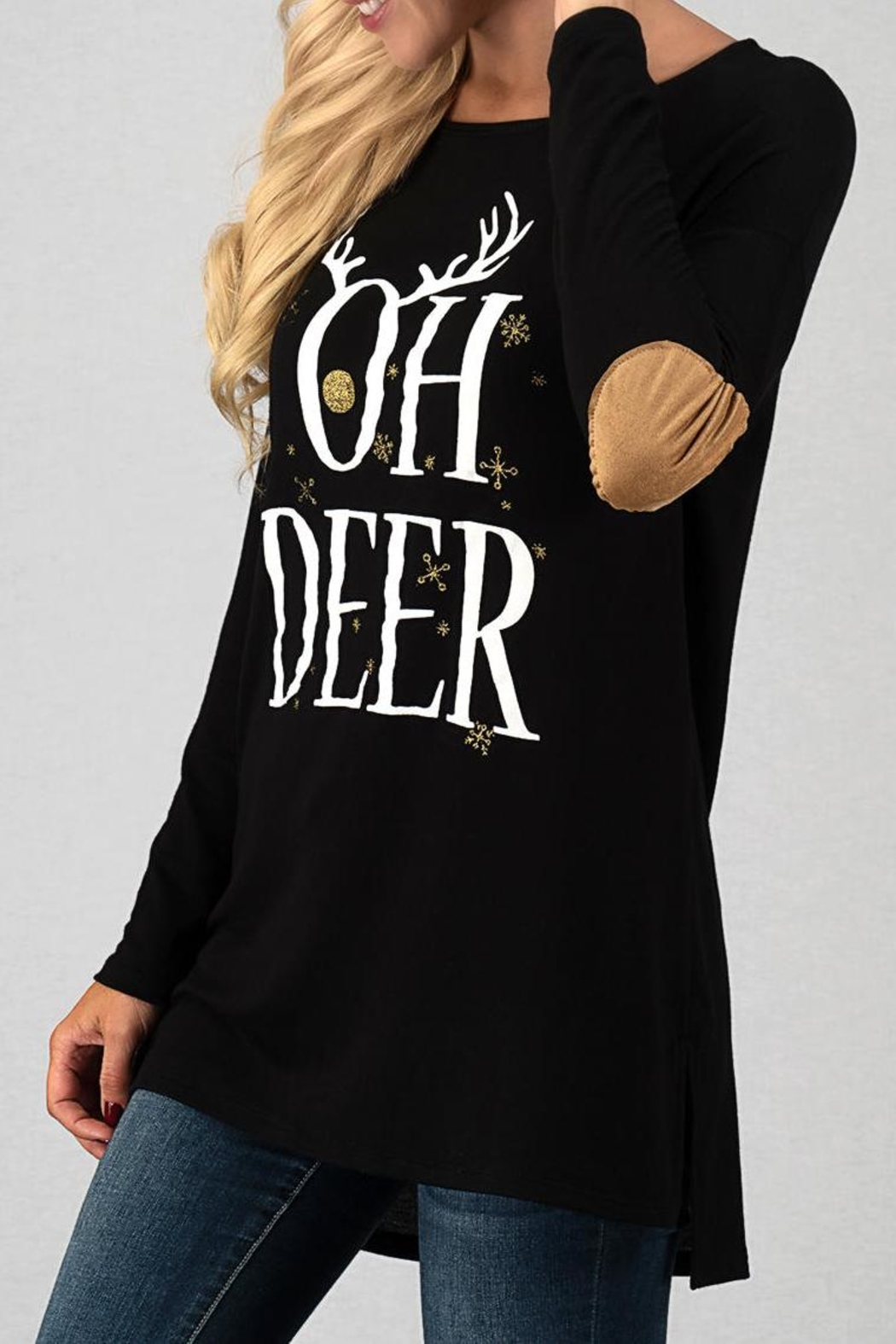 Trend:notes Oh Deer Top - Front Full Image