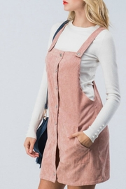 Favlux Corduroy Overall Dress - Front full body