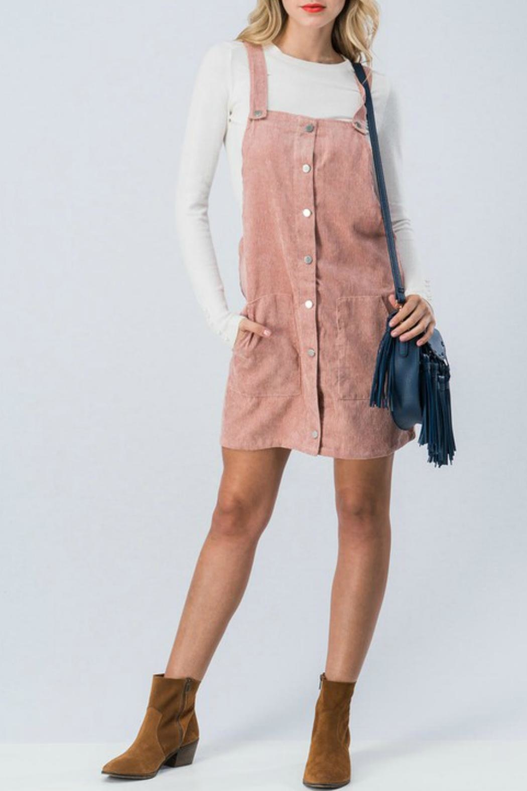 Favlux Corduroy Overall Dress - Main Image