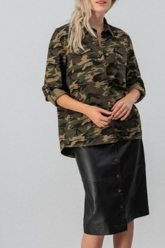 Trend:notes Oversized Camo Buttondown - Product List Image