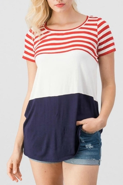 Trend:notes Patriot Colorblock Tee - Product List Image