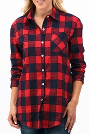 Trend:notes Plaid Button Down - Product Mini Image