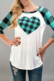 Trend:notes Plaid Heart Tee - Product Mini Image