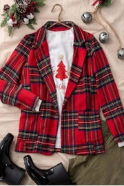 Trend:notes Red Plaid Jacket - Product Mini Image
