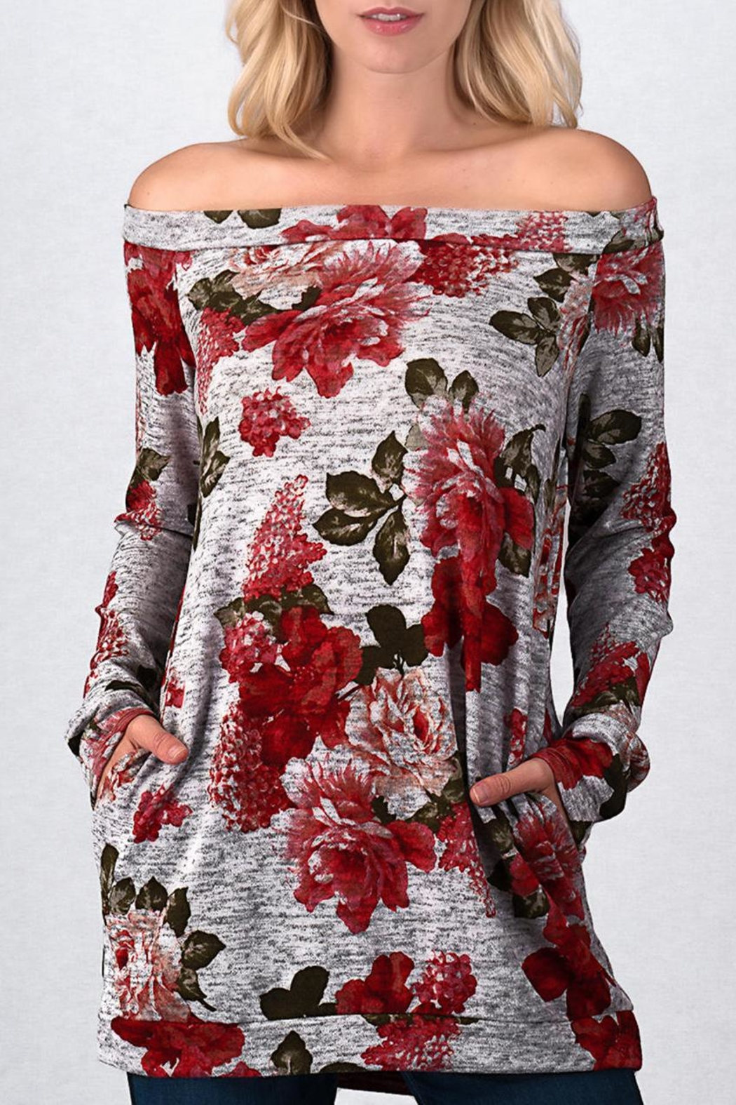 Trend:notes Roses Off Shoulder - Main Image