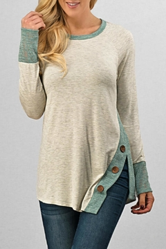 Trend:notes Side-Button Tunic Top - Product List Image