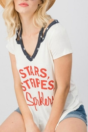 Trend:notes Stars White Tee - Product Mini Image