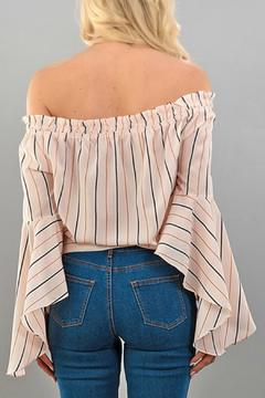 Trend:notes Striped Bow Top - Alternate List Image