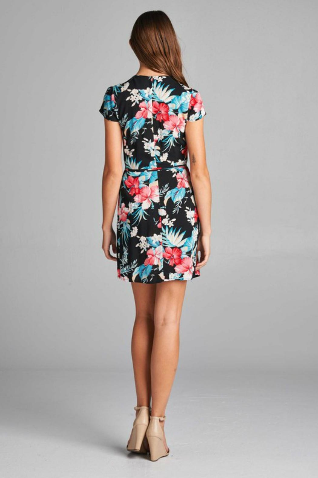 Trend:notes Wrap Floral Dress - Front Full Image