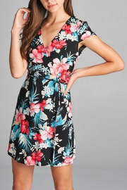 Trend:notes Wrap Floral Dress - Front cropped