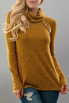 Trend:notes Turtleneck Button Top - Product List Image