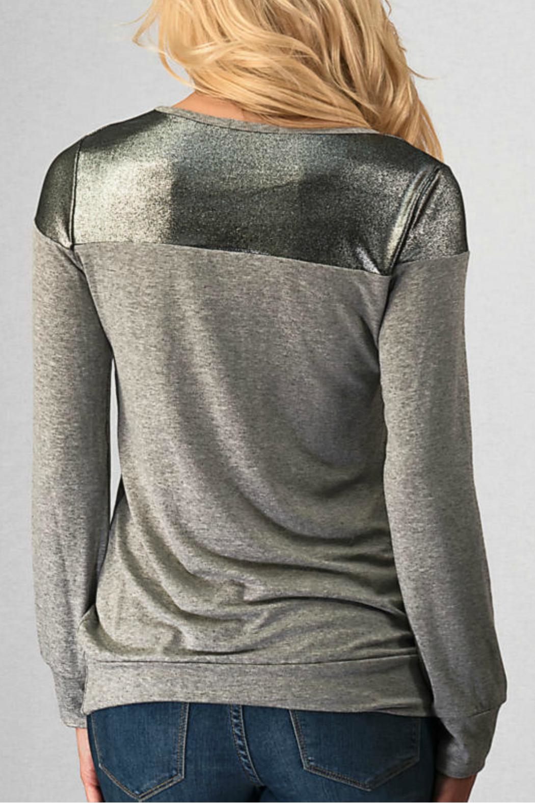 Trend:notes Two-Toned Top - Front Full Image