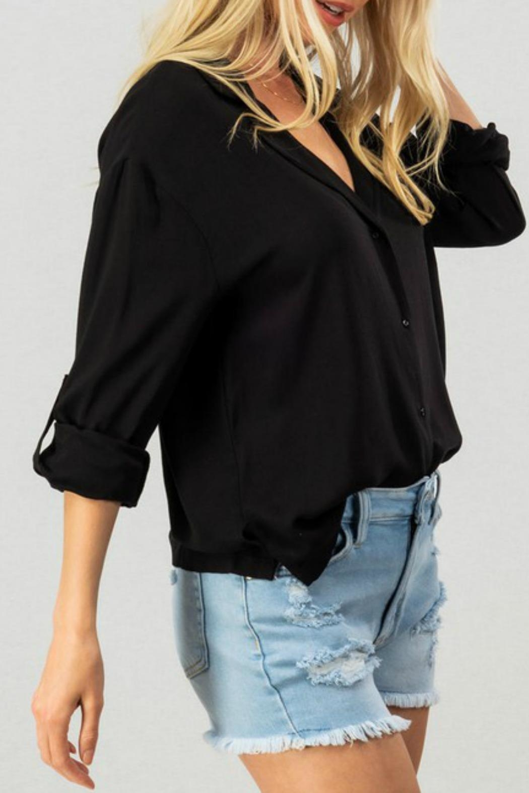 Trend:notes Val Button Down - Side Cropped Image